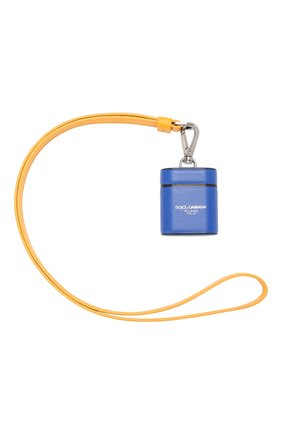 Мужской кожаный чехол для airpods DOLCE & GABBANA синего цвета, арт. BP2581/AJ802 | Фото 2