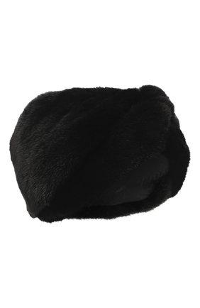 Женская повязка из меха норки KUSSENKOVV черного цвета, арт. 162800002019 | Фото 1