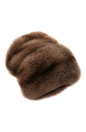 Женская шапка из меха соболя KUSSENKOVV разноцветного цвета, арт. 063600005682   Фото 1 (Материал: Натуральный мех)