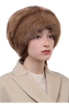 Женская шапка из меха соболя KUSSENKOVV разноцветного цвета, арт. 063600005682   Фото 2 (Материал: Натуральный мех)