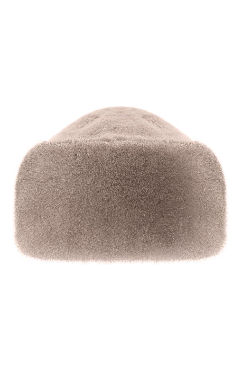Женская шапка из меха норки FURLAND серого цвета, арт. 0163500140104600000 | Фото 1