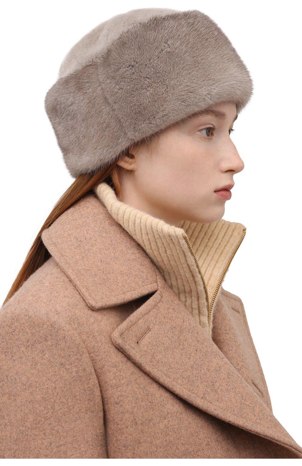 Женская шапка из меха норки FURLAND серого цвета, арт. 0163500140104600000 | Фото 2