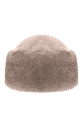 Женская шапка из меха норки FURLAND серого цвета, арт. 0163500140104600000 | Фото 3