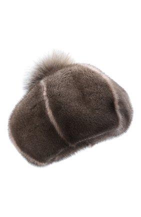 Женский берет из меха норки FURLAND серого цвета, арт. 0170900110206600939 | Фото 1