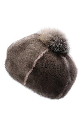 Женский берет из меха норки FURLAND серого цвета, арт. 0170900110206600939 | Фото 3