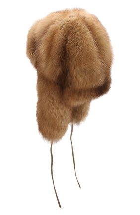 Шапка-ушанка из меха соболя | Фото №2