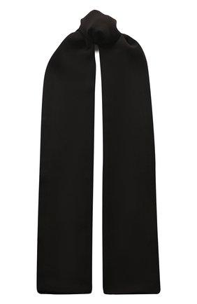 Женский шелковый шарф TOM FORD черного цвета, арт. SF0010-FAX040 | Фото 1 (Материал: Текстиль, Шелк)