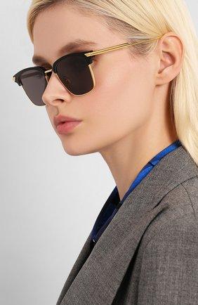 Мужские солнцезащитные очки BOTTEGA VENETA черного цвета, арт. BV1007SK | Фото 2