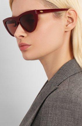 Мужские солнцезащитные очки BOTTEGA VENETA бордового цвета, арт. BV1018S | Фото 2