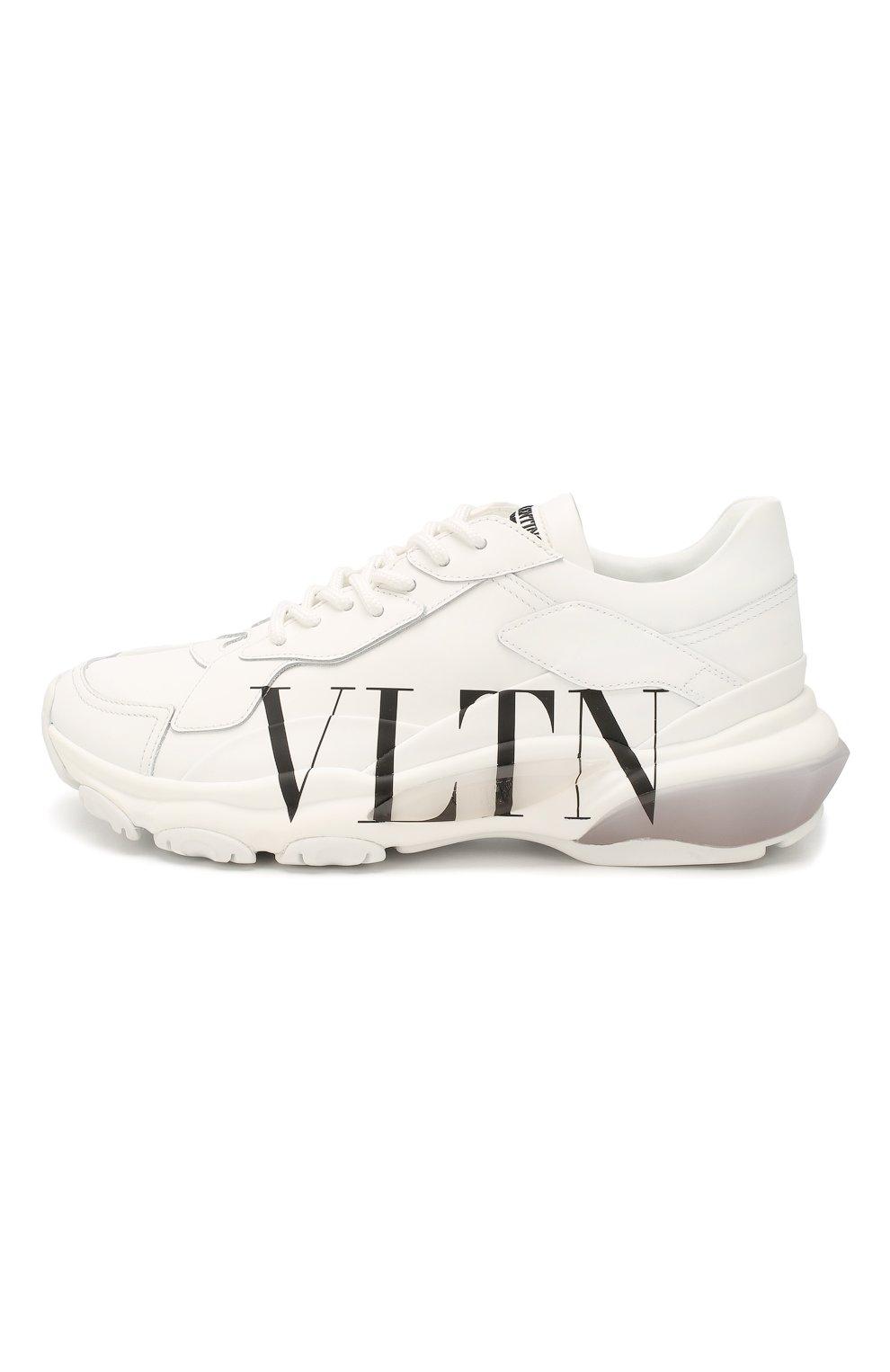 Женские кожаные кроссовки valentino garavani bounce VALENTINO белого цвета, арт. TW2S0M53/RKW | Фото 3