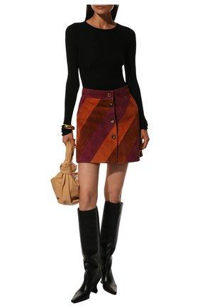 Женские кожаные сапоги BOTTEGA VENETA черного цвета, арт. 608843/VBSL0 | Фото 2