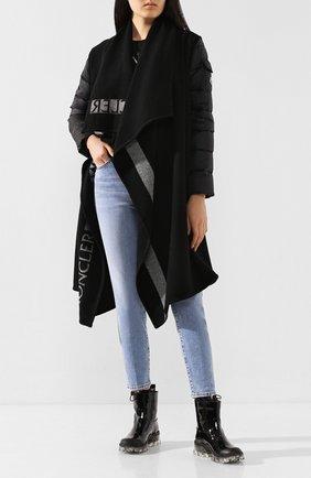 Женские кожаные сапоги MONCLER черного цвета, арт. F1-09B-4F700-00-02S6F | Фото 2