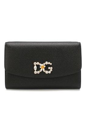 Женские кошелек на цепочке DOLCE & GABBANA черного цвета, арт. BI1275/AU771 | Фото 1