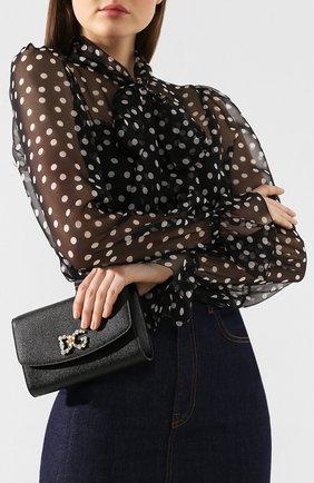 Женские кошелек на цепочке DOLCE & GABBANA черного цвета, арт. BI1275/AU771 | Фото 2