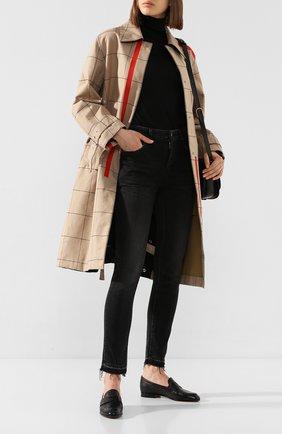 Женские кожаные пенни-лоферы SANTONI черного цвета, арт. WUSM57616BI3SLGAN01 | Фото 2