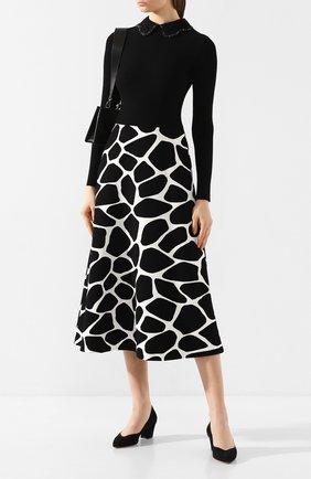 Женская замшевые туфли SANTONI черного цвета, арт. WDHC58609HI2RMGDN01 | Фото 2