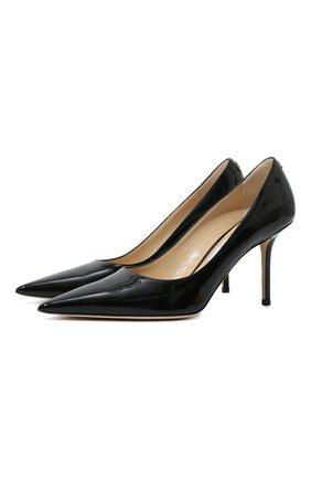 Женская кожаные туфли love 85 JIMMY CHOO черного цвета, арт. L0VE 85/PWJ | Фото 1