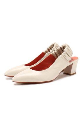 Женская кожаные туфли SANTONI белого цвета, арт. WDHC58569HI2CVPKI95 | Фото 1