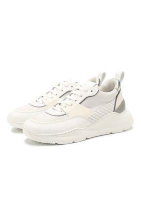 Женские кожаные кроссовки SANTONI белого цвета, арт. WBKI60670GEGXSSPI20 | Фото 1