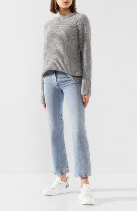 Женские кожаные кроссовки SANTONI белого цвета, арт. WBKI60670GEGXSSPI20 | Фото 2