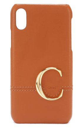 Мужской чехол для iphone x/xs CHLOÉ светло-коричневого цвета, арт. CHC19AD734A59 | Фото 1