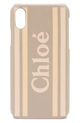 Мужской чехол для iphone x/xs CHLOÉ бежевого цвета, арт. CHC19AD737B29 | Фото 1