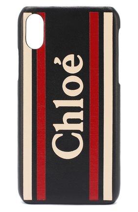 Мужской чехол для iphone x/xs CHLOÉ темно-синего цвета, арт. CHC19AD737B29 | Фото 1
