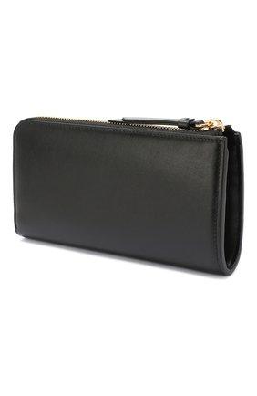 Женские кожаный кошелек CHLOÉ черного цвета, арт. CHC19WP084A37 | Фото 2