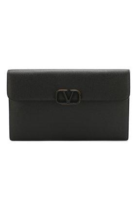 Женские кожаный футляр valentino garavani VALENTINO черного цвета, арт. TW2P0T44/RQR | Фото 1