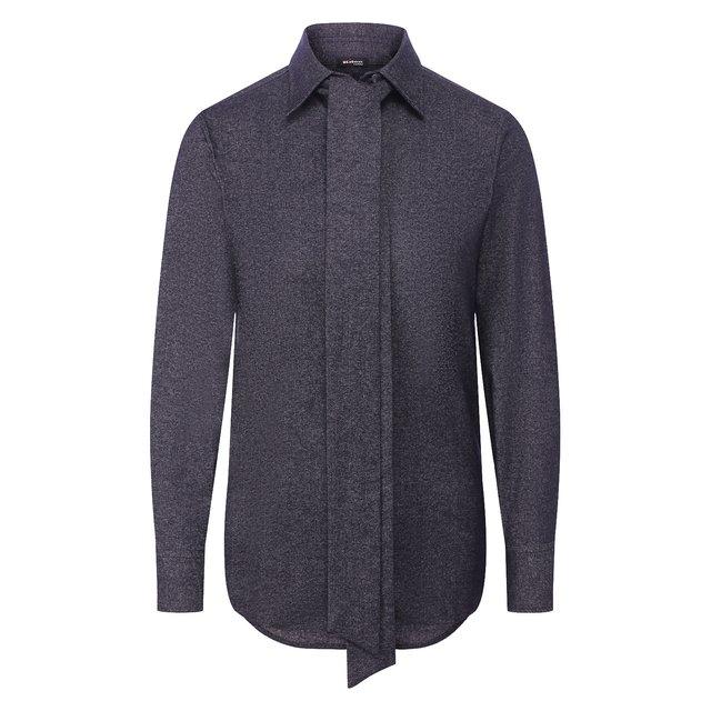 Рубашка из смеси хлопка и шерсти Kiton