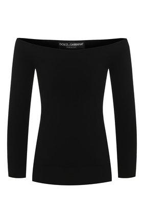 Женская пуловер из вискозы DOLCE & GABBANA черного цвета, арт. FX697T/JAMY5 | Фото 1