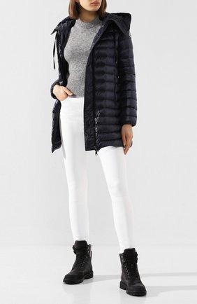 Женский пуховая куртка rubis MONCLER темно-синего цвета, арт. F1-093-1B100-00-C0070 | Фото 2