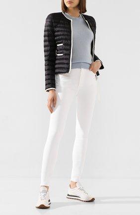 Женский пуховая куртка baillet MONCLER черного цвета, арт. F1-093-1A117-00-C0356 | Фото 2