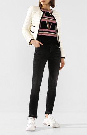 Женский пуховая куртка baillet MONCLER белого цвета, арт. F1-093-1A117-00-C0356 | Фото 2