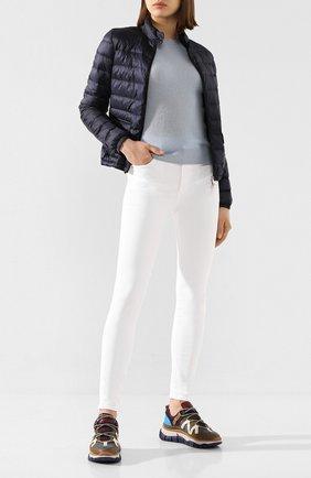 Женский пуховая куртка lans MONCLER темно-синего цвета, арт. F1-093-1A101-00-53048 | Фото 2