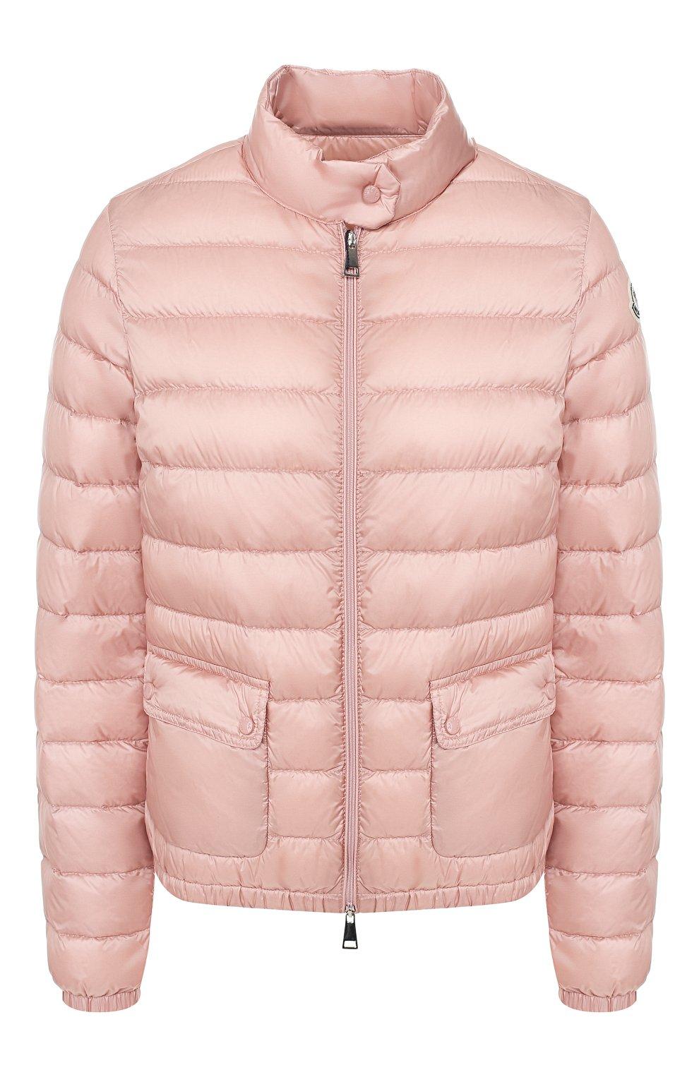 Женский пуховая куртка lans MONCLER розового цвета, арт. F1-093-1A101-00-53048 | Фото 1 (Кросс-КТ: Куртка, Пуховик; Рукава: Длинные; Женское Кросс-КТ: Пуховик-куртка; Материал внешний: Синтетический материал; Материал подклада: Синтетический материал; Длина (верхняя одежда): Короткие; Материал утеплителя: Пух и перо)