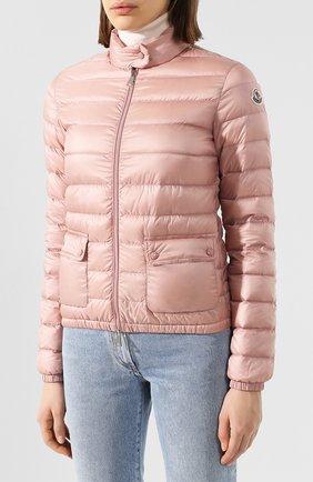 Женский пуховая куртка lans MONCLER розового цвета, арт. F1-093-1A101-00-53048 | Фото 3 (Кросс-КТ: Куртка, Пуховик; Рукава: Длинные; Женское Кросс-КТ: Пуховик-куртка; Материал внешний: Синтетический материал; Материал подклада: Синтетический материал; Длина (верхняя одежда): Короткие; Материал утеплителя: Пух и перо)
