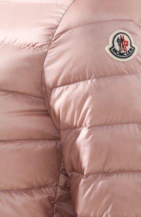 Женский пуховая куртка lans MONCLER розового цвета, арт. F1-093-1A101-00-53048 | Фото 5 (Кросс-КТ: Куртка, Пуховик; Рукава: Длинные; Женское Кросс-КТ: Пуховик-куртка; Материал внешний: Синтетический материал; Материал подклада: Синтетический материал; Длина (верхняя одежда): Короткие; Материал утеплителя: Пух и перо)