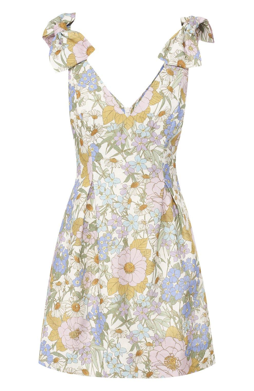 Женское льняное платье ZIMMERMANN голубого цвета, арт. 5415DSUP   Фото 1