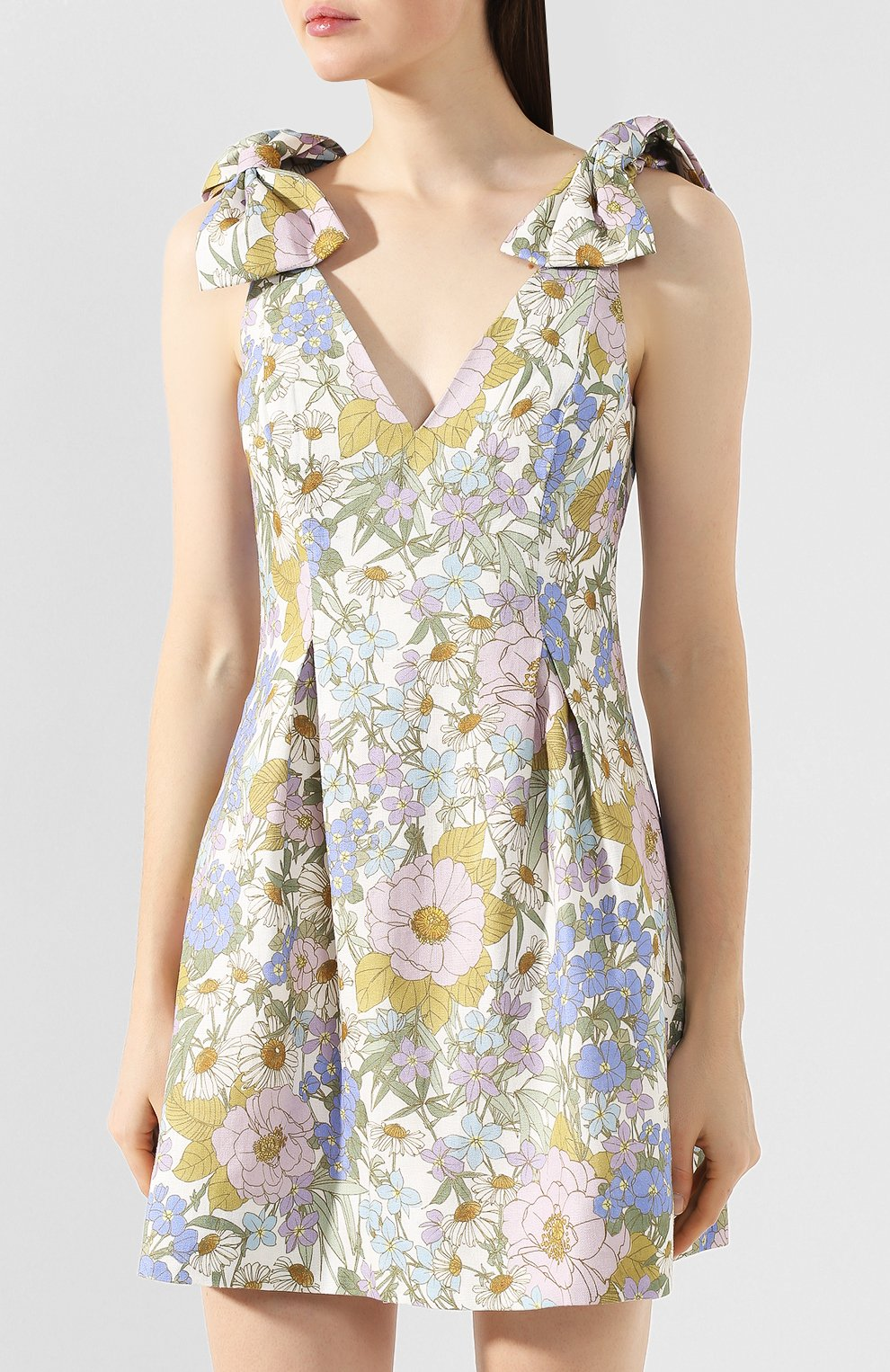 Женское льняное платье ZIMMERMANN голубого цвета, арт. 5415DSUP   Фото 3