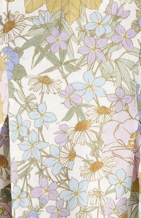 Женское льняное платье ZIMMERMANN голубого цвета, арт. 5415DSUP   Фото 5