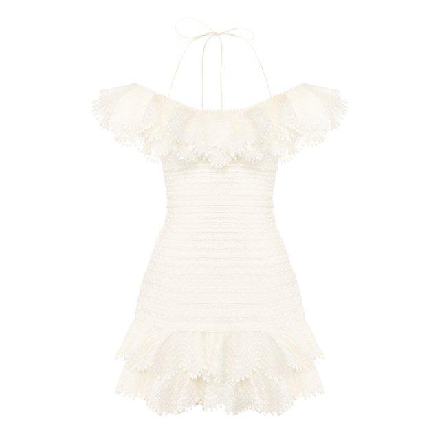 Платье из смеси льна и шелка Zimmermann