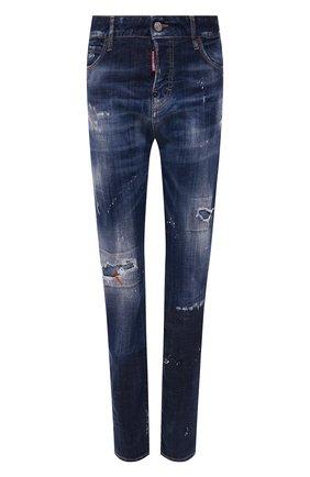 Женские джинсы DSQUARED2 синего цвета, арт. S75LB0325/S30342 | Фото 1