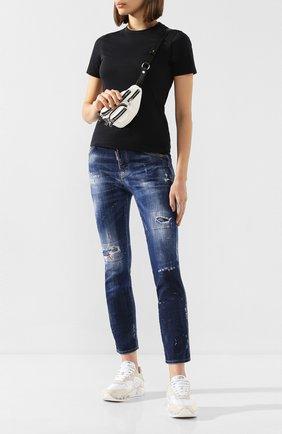 Женские джинсы DSQUARED2 синего цвета, арт. S75LB0325/S30342 | Фото 2