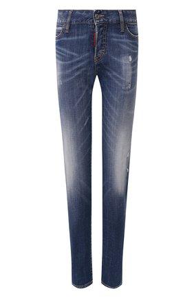 Женские джинсы DSQUARED2 темно-синего цвета, арт. S75LB0323/S30342 | Фото 1