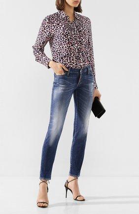 Женские джинсы DSQUARED2 темно-синего цвета, арт. S75LB0323/S30342 | Фото 2