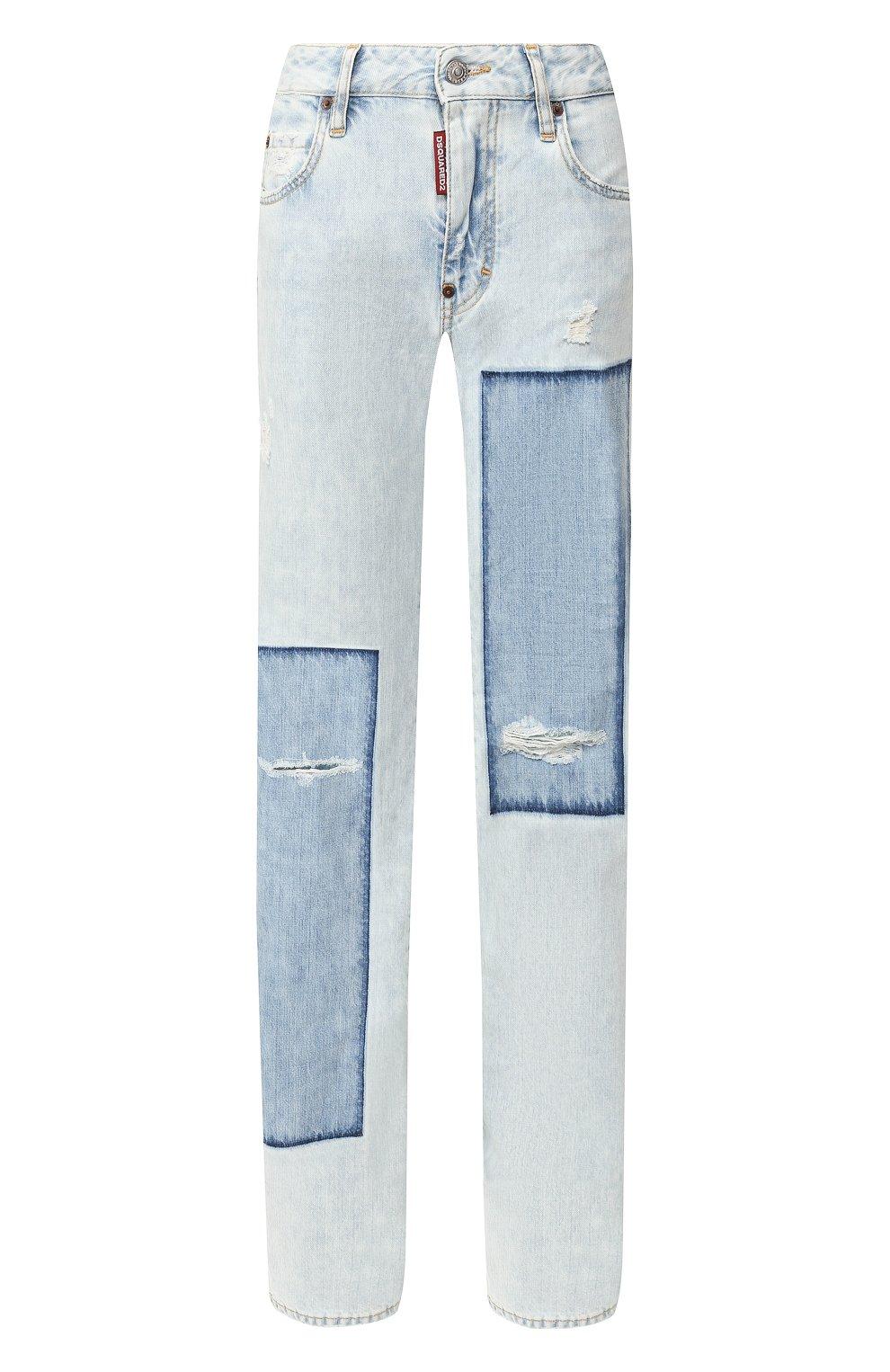 Женские джинсы DSQUARED2 голубого цвета, арт. S75LB0287/S30309 | Фото 1