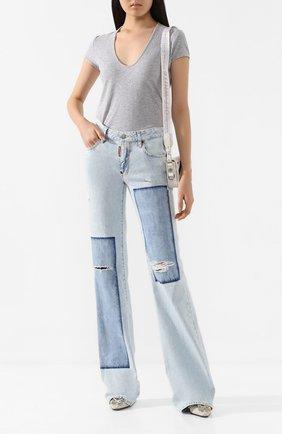 Женские джинсы DSQUARED2 голубого цвета, арт. S75LB0287/S30309 | Фото 2