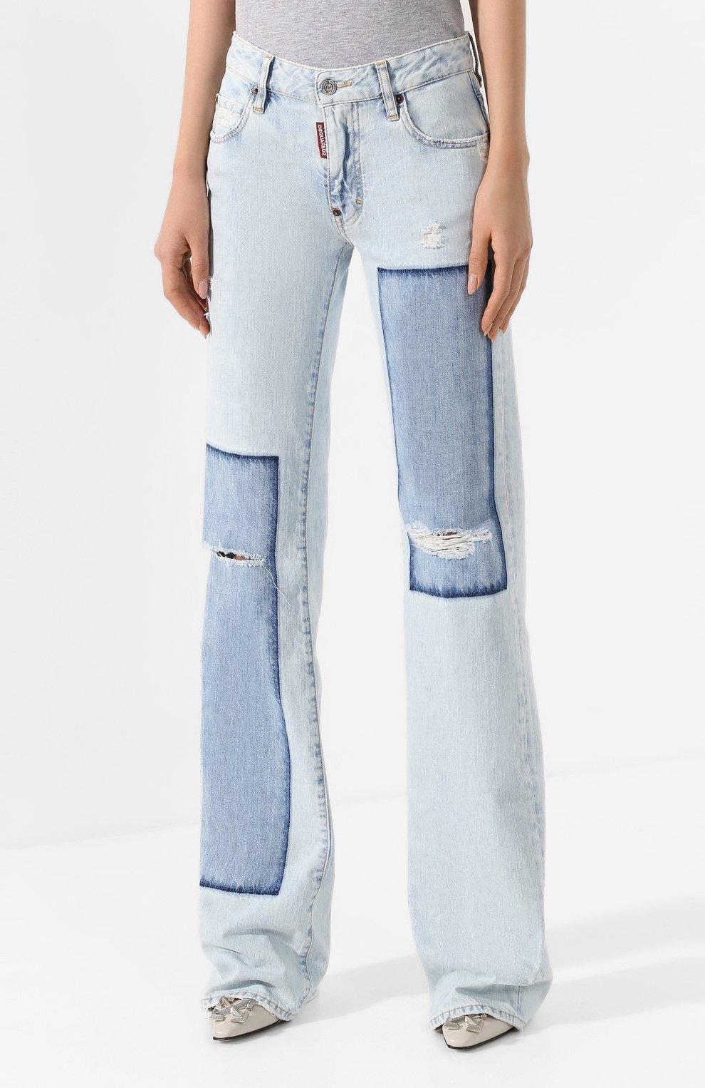 Женские джинсы DSQUARED2 голубого цвета, арт. S75LB0287/S30309 | Фото 3