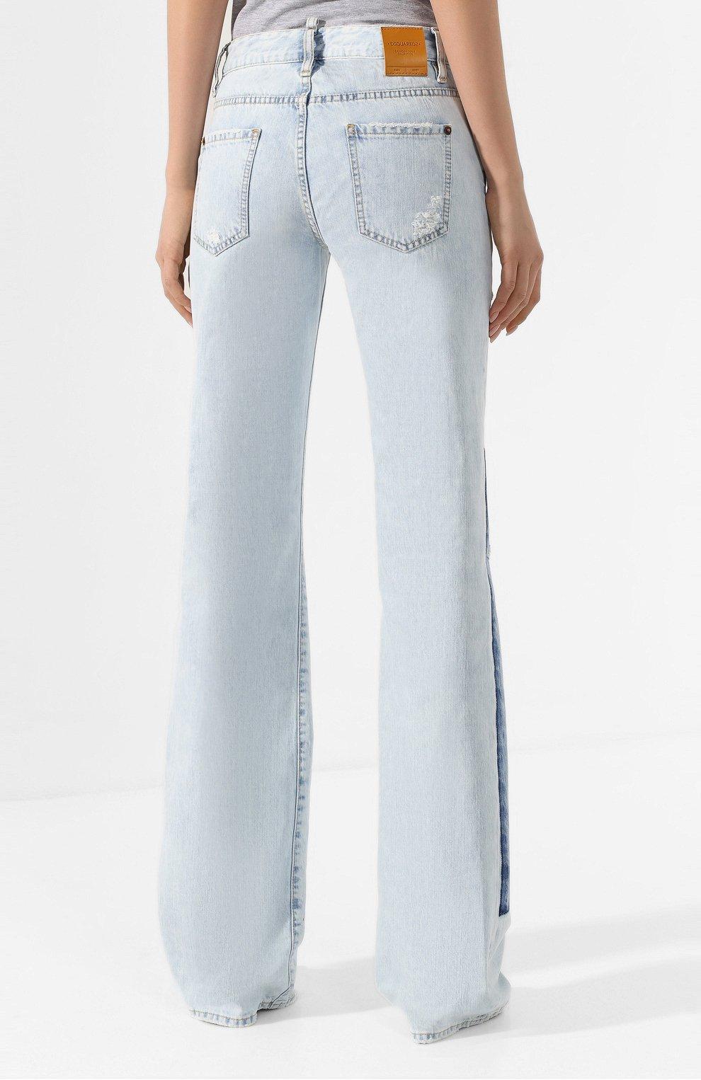 Женские джинсы DSQUARED2 голубого цвета, арт. S75LB0287/S30309 | Фото 4
